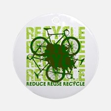 Environmental reCYCLE Ornament (Round)