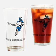 Custom Lacrosse Player Drinking Glass