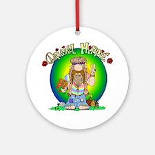 The Original Hippie Ornament (Round)