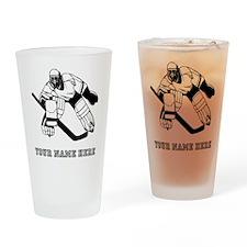 Custom Hockey Goalie Drinking Glass