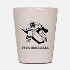 Custom Hockey Goalie Shot Glass
