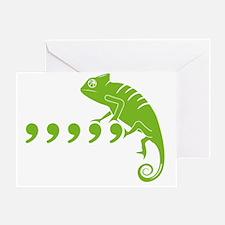 Comma, comma, comma, comma, comma, C Greeting Card