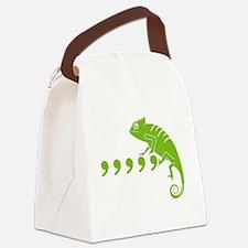 Comma, comma, comma, comma, comma Canvas Lunch Bag