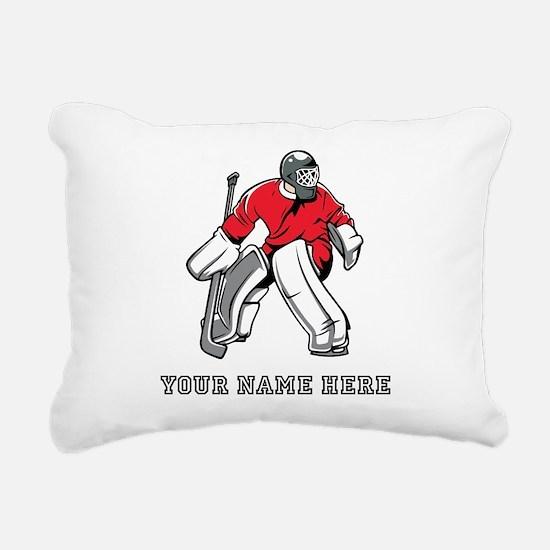 Custom Hockey Goalie Rectangular Canvas Pillow