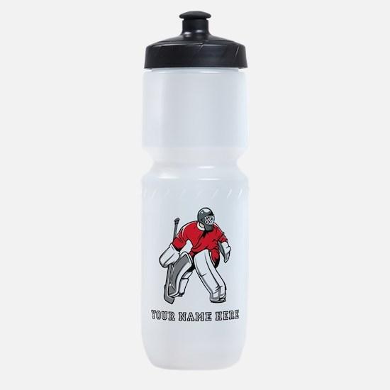 Custom Hockey Goalie Sports Bottle