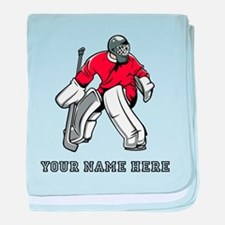 Custom Hockey Goalie baby blanket