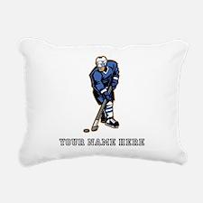 Custom Hockey Player Rectangular Canvas Pillow
