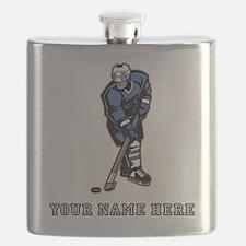 Custom Hockey Player Flask