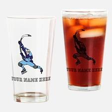 Custom Hockey Slapshot Drinking Glass
