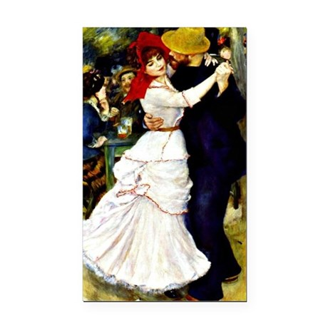 Renoir - Dance at Bougival Rectangle Car Magnet