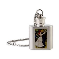 Renoir - Dance at Bougival Flask Necklace