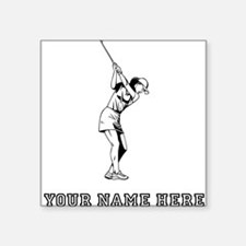 Custom Woman Golfer Sticker
