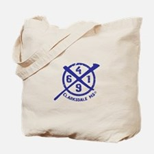 61/49 Crossroads Symbol - Open Blue Design Tote Ba