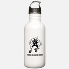 Custom Viking Football Player Water Bottle