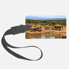 Wild Elephant Luggage Tag