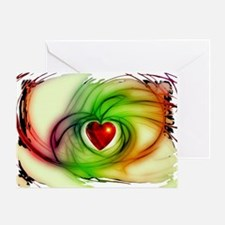 Heart of Love Design Greeting Card