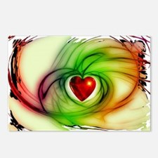 Heart of Love Design Postcards (Package of 8)