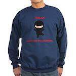 Ninja Computer Programmer Sweatshirt (dark)