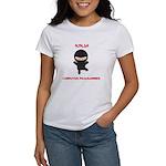 Ninja Computer Programmer Women's T-Shirt