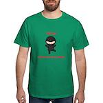 Ninja Computer Programmer Dark T-Shirt