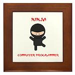 Ninja Computer Programmer Framed Tile