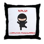 Ninja Computer Programmer Throw Pillow