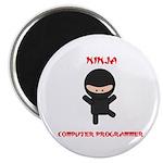 Ninja Computer Programmer Magnet