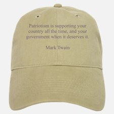 Mark Twain Patriotism Hat