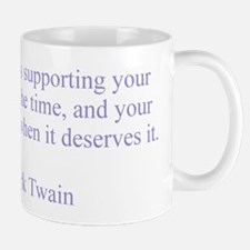 Mark Twain Patriotism Small Small Mug