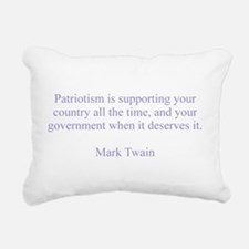Mark Twain Patriotism Rectangular Canvas Pillow