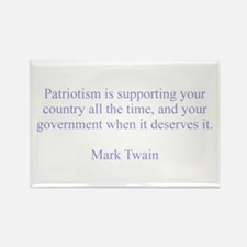 Mark Twain Patriotism Rectangle Magnet