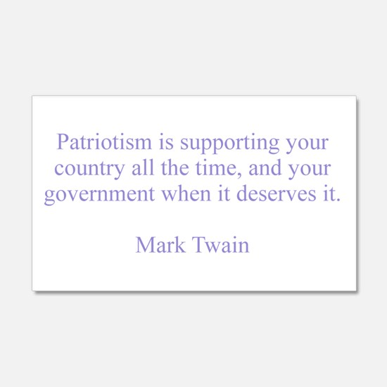 Mark Twain Patriotism Decal Wall Sticker