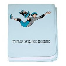 Custom Skateboarder Cartoon baby blanket
