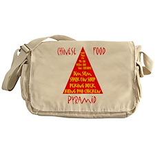 Chinese Food Pyramid Messenger Bag