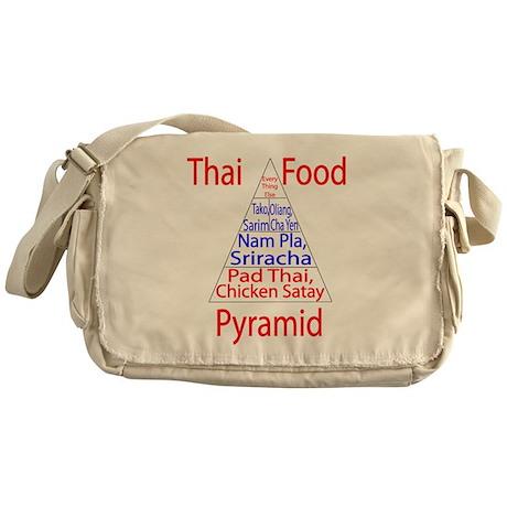 Thai Food Pyramid Messenger Bag