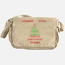 Lebanese Food Pyramid Messenger Bag