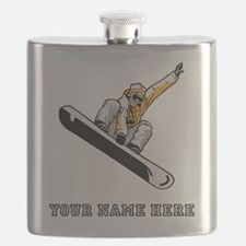 Custom Extreme Snowboarder Flask