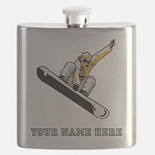 Custom Extreme Snowboarder Flask