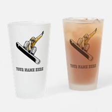 Custom Extreme Snowboarder Drinking Glass