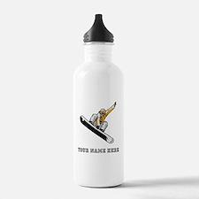 Custom Extreme Snowboarder Water Bottle
