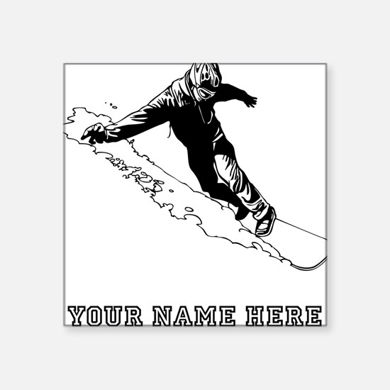 Custom Downhill Snowboarder Sticker