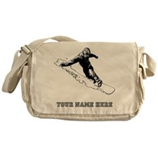 Custom Downhill Snowboarder Messenger Bag