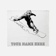 Custom Downhill Snowboarder Throw Blanket