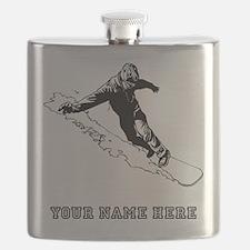 Custom Downhill Snowboarder Flask