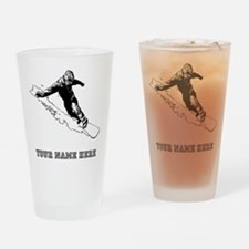 Custom Downhill Snowboarder Drinking Glass