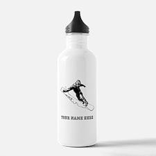 Custom Downhill Snowboarder Water Bottle