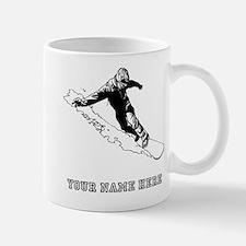 Custom Downhill Snowboarder Mugs