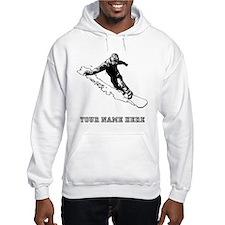 Custom Downhill Snowboarder Hoodie
