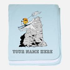Custom Extreme Skier baby blanket