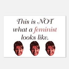 Palin: Not a Feminist Postcards (Package of 8)